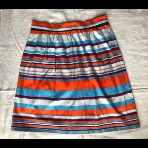 J Crew SZ 12 Cotton Stretch Garden Skirt w Pockets